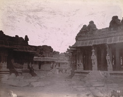 Garuda shrine in the form of a stone ratha or temple car in the Vitthala Temple Complex, Vijayanagara